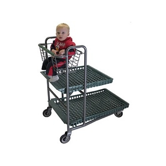Nesting  Garden Center Cart with Baby Seat