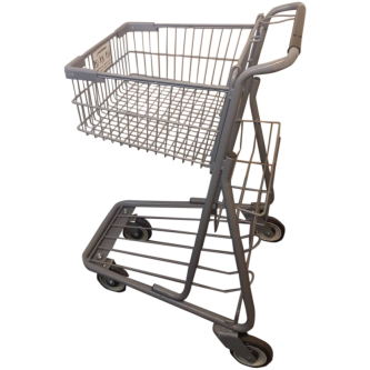 Metal Express Shopping Cart With a Small Rear Basket #072