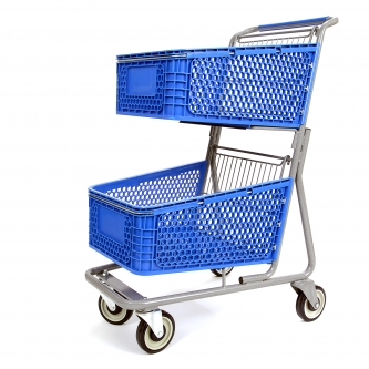 Plastic Express Dual Shopping Cart #075P
