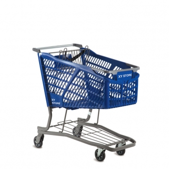 Stylish Large Plastic Shopping Cart  #HC20